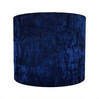 Lampshade Crushed Navy Blue Velvet Lightshade Floor lamp Stand Dark