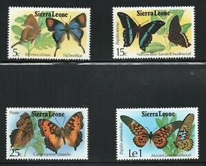Sierra Leone  (1978)  - Scott # 444 - 446,   MH