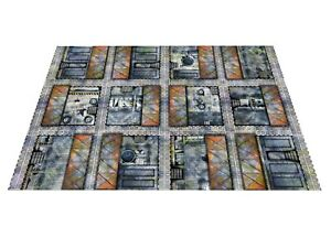 """6'x4' & NEW 44""""x60"""" Toxic Industrial Gaming Mat Warhammer 40k wh40k space marine"""