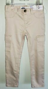 NEW Old Navy Girls 4T / 5T Ballerina Cargo Jeggings Pants KHAKI / ECRU #20820