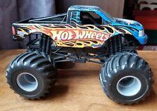 Hot Wheels Monster Jam Blue Red Flames Loose Truck Die Cast
