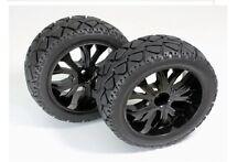 Roue rc & pneu Set 1:10 scale 1 / 10e buggy pneus sur la route devant noir quantité 2