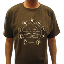 Vintage Radio Tube Pin Out T-Shirt Size Large Brown New