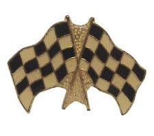 Wholesale Bulk Lot 24 Gold Tone Enamel Race Car Racing Checkered Flag Lapel Pins