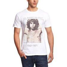 The Doors Men's American Poet Short Sleeve T-shirt White Large - Jim Morrison