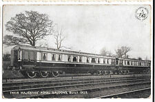 Their Majesties Royal Saloons, Built 1903, Unposted, LNWR Official Postcard