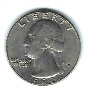 1982-D Denver Nice Circulated Washington Quarters!