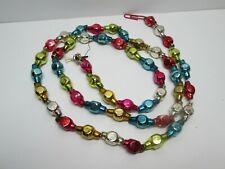 Antique Victorian Glass Christmas Bead Garland 38""