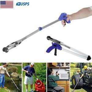 "32"" Grabber Pick Up Tool Extended Garbage Reaching Stick Trash Picker Folding US"