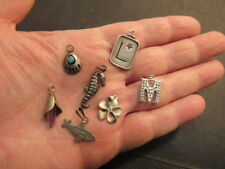 sterling silver charm pendant lot