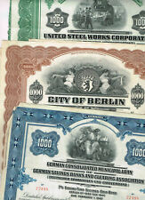 Set, 3 Anleihen Deutschland in US$ mit Golddeckung, Gold-Bonds, VF-VF minus