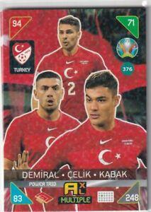 PANINI ADRENALYN XL EURO 2020 - 2021 KICK OFF CARD N. 376 TURKEY POWER TRIO