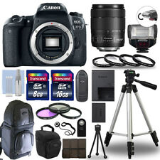 Canon EOS 77D Digital Camera + 18-135 USM Lens & TTL Flash 32GB Accessory Kit