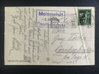 1936 Germany Kriegsmarine Navy Cover Cruiser Deutschland to Nuremburg Zeppelin
