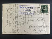 1936 Germany Kriegsmarine Navy Cover Cruiser Deutschland to Nuremburg Zeppelin