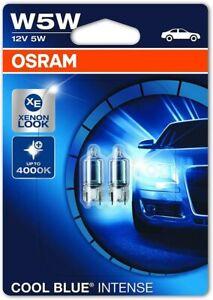 OSRAM W5W Cool Blue Intense Car Side Light Bulbs Position Number Plate Set 2