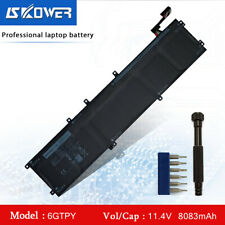 97Wh Battery For Dell XPS 15 9560 9570 6GTPY 5041C 5D91C 5XJ28 H5H20 + Free Tool