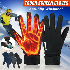 Windproof Anti-slip Warm Driving Gloves Suede Thermal Touch Screen Sport
