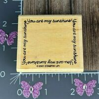 Stampin Up! 2001 You Are My Sunshine Rubber Stamp Frame Border #C29