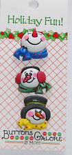 Detailed Snowmen Faces Buttons Galore 3 Snowman Buttons Vicki Schreiner