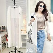 Women Chiffon Sun Protection Sheer Long Cardigan Maxi Dress Kimono Jacket Coat