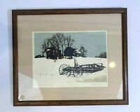 John MOSIMAN Signed Numbered Listed Illinois Artist Framed and Matted 56/240