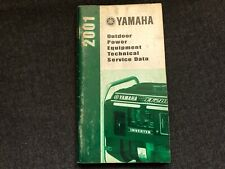 2001 YAMAHA Outdoor Power Equipment Technical Service Data Booklet