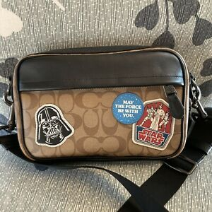 STAR WARS X COACH GRAHAM CROSSBODY IN SIGNATURE CANVAS WITH PATCHES F89188 RARE