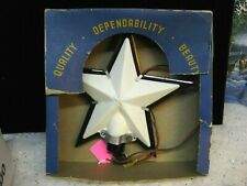"Vintage Christmas Large 9"" Paramount Lighted Tree Topper Star Hard Plastic (20)"