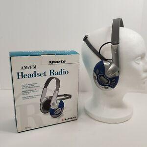 RadioShack AM/FM Sport Stereo Headset Radio 12-936 Weather Resistant Works Teste
