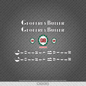 0995 Geoffrey Butler Bicycle Stickers - Decals - Transfers - White