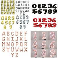 """16""""32""""40"""" Letter&Number Foil Balloons Birthday Wedding Party Decor Rose Gold /L2"""