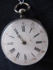 Jolie montre à gousset argent cylindre 8 rubis - Tranchée / poilus