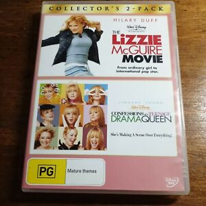 The Lizzie McGuire Movie + Confessions of a Teenage Drama R4 DVD Like New