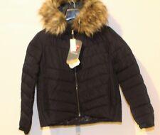 NWT Gap Women Jacket PrimaLoft Luxe fur-trim Puffer Navy SIZE:  SP