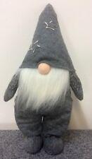 Lutins Homme 49 cm Gris Peluches Noël Figurine Décorative Chalet Loft Cadeau Wow
