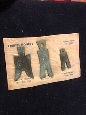 (3) pieces of antique Chinese bronze money Hon Pu, Spade, and Tapu