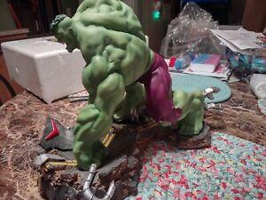 "Art Asylum Marvel Milestones "" The Incredible Hulk "" Statue Full size - Rare"