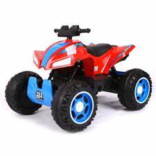 Quad Elettrico Moto ATV Rosso 4x4 12V 1 Posto Per Bambini