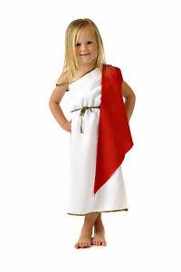 Child Kid Roman Toga Emperor Fancy Dress Costume Age 5 6 7 8 9 10 11 Girl Boy