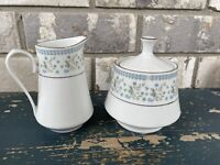 Regent Collection Crown Ming Fine China Platinum Trim Creamer and Sugar