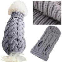 Small Dog Knitting Jacket Sweater Pet Cat Puppy Coat Clothes Warm Costume Winter