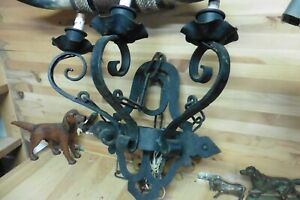 Vintage sconce wall lamp wrought iron gothic victorian ornate
