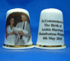 Birchcroft Thimble -- Prince Harry & Meghan Royal Baby Archie with Free Dome Box
