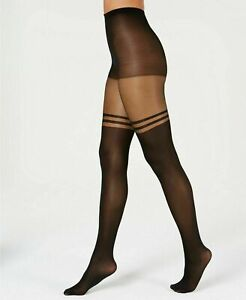 Women's INC International Concepts Striped Mock Thigh-High Tights Size XS/S