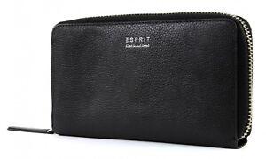 ESPRIT Shoulderbag Wallet Geldbörse Clutch Umhängetasche Black Schwarz