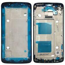 Carcasa Marco Marco Central Tapa para Motorola Moto G6 Negro Reparación Nuevo