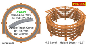 """N Helix For KATO 20-185 Double Track R:447/480mm or Similar - Height: 50cm/19.7"""""""