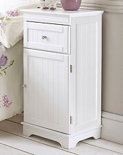 1 drawer Tong & Groove White Bed Side cabinet Chest