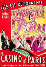 Casino de Paris Super Revue  Can Can Poster Print